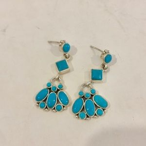 Jewelry - Like 🆕 Sterling Silver, Turquoise Earrings, 8g